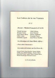 17 octobre 2012 – Le Cahier 17 est paru   crv17-211x300